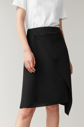 Cos Recycled Crepe Draped Skirt