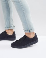 Fred Perry B721 Brushed Cotton Sneakers Navy