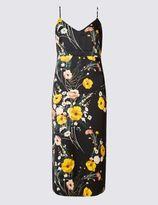 Marks and Spencer Satin Floral Print Slip Dress