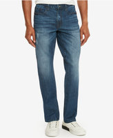 Kenneth Cole Reaction Men's Straight-Fit Medium Blue Wash Jeans