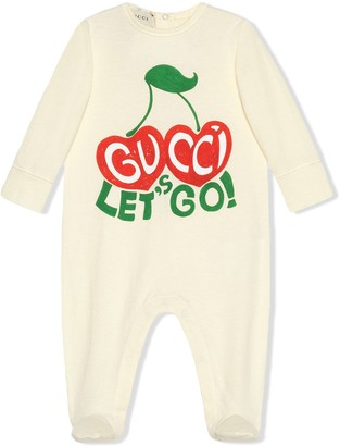 Gucci Kids Cherry Logo Pajamas