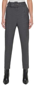 DKNY Petite Skinny Belted Pants