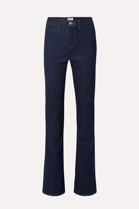 L'Agence Joplin High-rise Flared Jeans - Dark denim