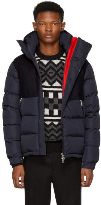Moncler Navy Lavedan Down Jacket