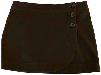 Benetton Brown Cotton Skirt for Women