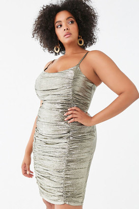Forever 21 Plus Size Metallic Pin Dot Dress