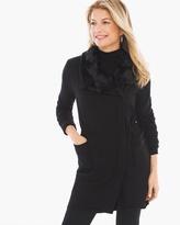 Chico's Knit Collection Faux-Fur Trim Jacket