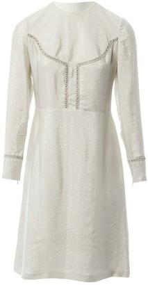 Vilshenko Silver Silk Dresses