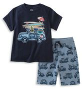 Kids Headquarters Baby Boys Vacation Tee and Shorts Set