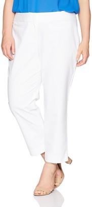 Nine West Women's Size Plus Double Weave Classic Pant