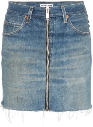RE/DONE zipped mini skirt