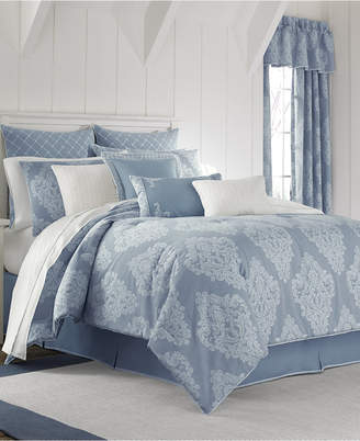 Piper & Wright Ansonia Indigo 4-Pc. Queen Comforter Set Bedding