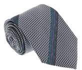 Missoni U4317 Silver/blue Chevron 100% Silk Tie.