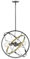 Lansdown 4 - Light Sputnik Globe Chandelier Orren Ellis Base Finish: Chrome, Finish: Aged Brass in Chrome