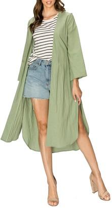 Olivia Pratt Tie Waist Solid Jacket