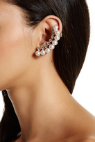 Stephan & Co Simulated Pearl & Crystal Ear Cuff