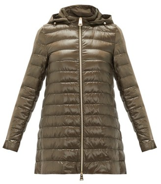 Herno Down-padded Technical-shell Coat - Womens - Khaki