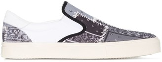 Amiri Bandana Print Slip-On Sneakers