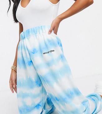 New Girl Order Petite cloud tie-dye high-waisted trackies