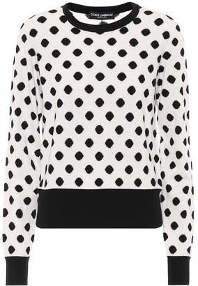 Dolce & Gabbana Polka-dot cashmere sweater