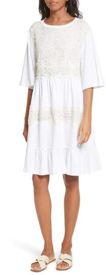 See by Chloe Crochet Panel Dress