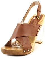 Trina Turk Penney Women Open Toe Leather Brown Sandals.