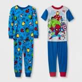 Marvel Toddler Boys' Super Heroes Cotton Pajama Set - Blue