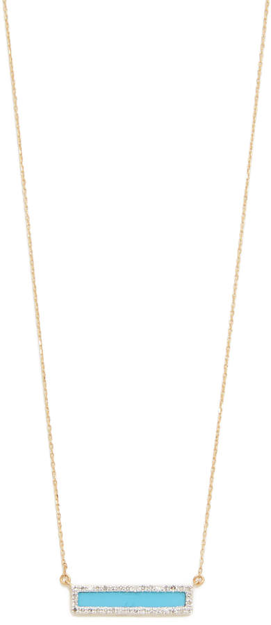 Adina Turquiose + Diamond Bar Necklace