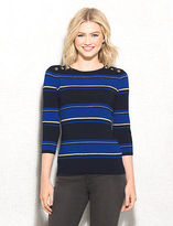 dressbarn roz&ALI Striped Shimmer Sweater