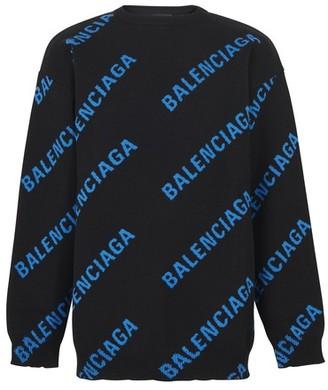 Balenciaga Cotton logo knit