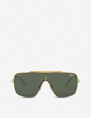 Ray-Ban Wings II RB3597 metal square-frame sunglasses