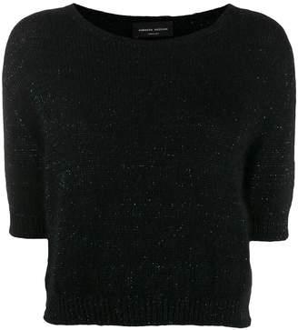 Roberto Collina glitter-knit top