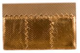 Bottega Veneta Ayers Snakeskin Frame Clutch