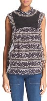 See by Chloe Women's Floral Stripe Sleeveless Blouse