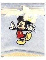 Disney Mickey Mouse 2-Ply Blue Coral Fleece Sherpa Blanket