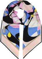 Emilio Pucci Two-Tone Abstract Print Silk Stole