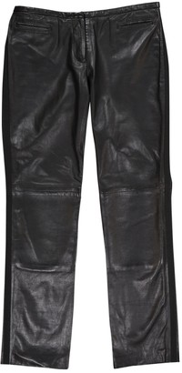 CNC Costume National Black Leather Trousers