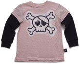 Nununu Infant Skull Patch T-Shirt - Powder Pink