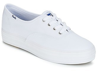Keds TRIPLE CORE CANVAS women's Shoes (Trainers) in White