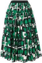 Fausto Puglisi tropical print full skirt