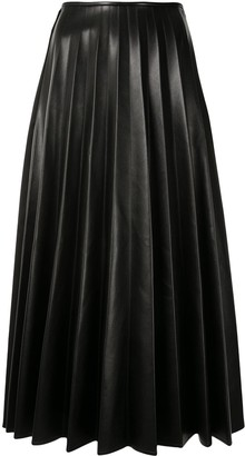 Peter Do Faux-Leather Pleated Skirt