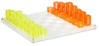 Jonathan Adler Lucite Chess Set Neon