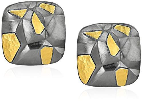 Gurhan Century Sterling Square Sculptural Clip Post Earrings
