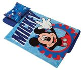 Disney Aquatopia® Mickey Mouse Deluxe Memory Foam Nap Mat, Pillow and Blanket Set in Blue