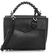 Rebecca Minkoff Women's Chain Embossed Leather Satchel