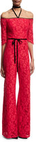 Alexis Joaquin Lace Jumpsuit, Red