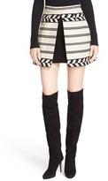Alice + Olivia Women's 'Daysi' Front Inset Jacquard Miniskirt