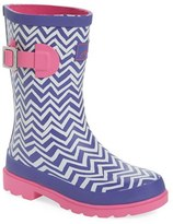 Joules Girl's 'Welly' Print Waterproof Rain Boot