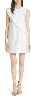 Ted Baker Mahlene Embroidered Ruffle Shift Dress