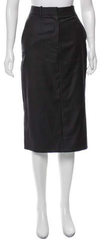 Calvin Klein Wool Midi Skirt Grey Wool Midi Skirt